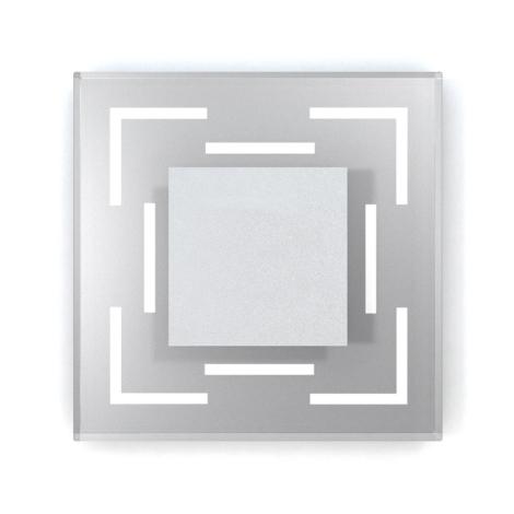 LED schodiskové svietidlo CRISTAL 02 6xLED/0,48W/12V nerez 6000K