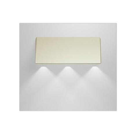 LED schodiskové svietidlo GAMA 3xLED/0,24W/12V satina 6000K
