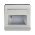 LED Schodiskové svietidlo so senzorom STEP LIGHT NET LED/1,5W/110-256V strieborná