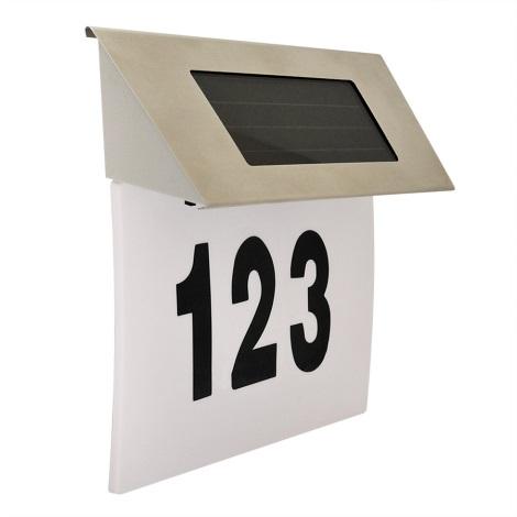 LED Solárne domové číslo 1,2V IP44