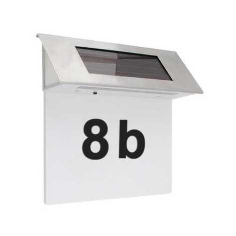 LED solárne domové číslo