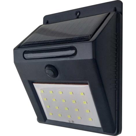 LED Solárne nástenné svietidlo LED/3W IP44