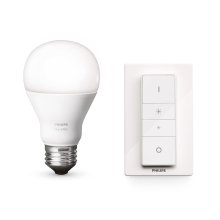 LED stmievateľná žiarovka Philips HUE WIRELESS DIMMING KIT 1xE27/9,5W/230V - 8718696452523