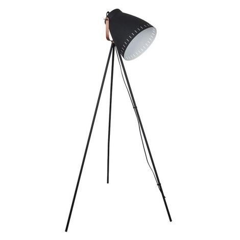 LED Stojacia lampa 1xE27/10W/230V čierna 145cm