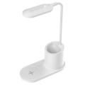 LED Stolná lampa LED/3W/5V s bezdrôtovým nabíjaním biela