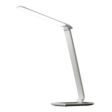 LED stolná lampa stmievateľná USB konektor LED/12W/230V biela