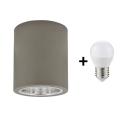LED Stropné svietidlo JUPITER 1xE27/6W/230V 120x98 mm