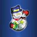 LED vianočná dekorácia do okna 10xLED/3xAAA