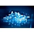 LED Vianočná reťaz 10xLED/2xAA 1,5m hviezdy modré svetlo