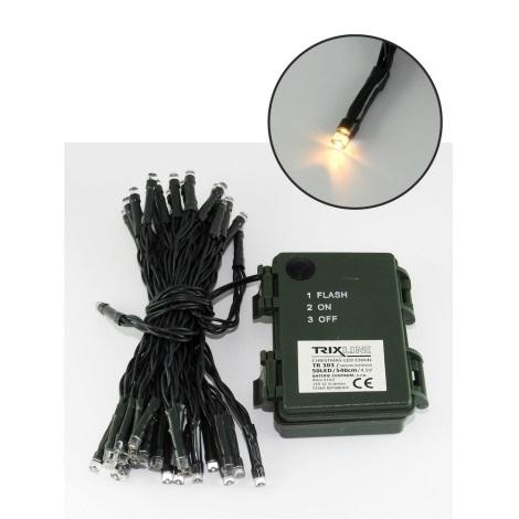 LED Vianočná vonkajšia reťaz 5,4 m 50xLED/3xAA 2700 K IP44
