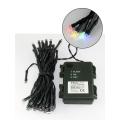 LED Vianočná vonkajšia reťazz 10,8 m 100xLED/3xAA farebná IP44