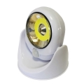 LED Vonkajšie nástenné svietidlo so senzorom LED/3W/4xAA