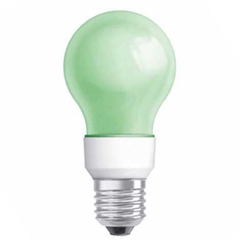 LED žiarovka E27/1,2W 80091-01 GREEN