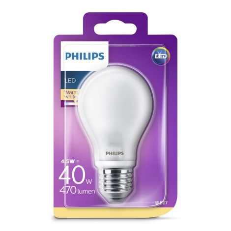 LED Žiarovka Philips E27/4,5W/230V