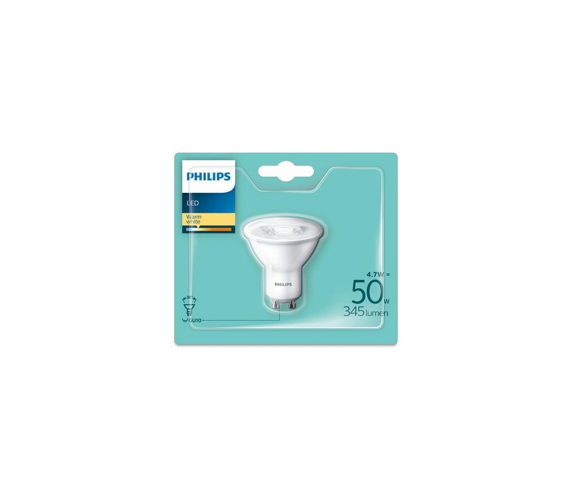 Philips LED Žiarovka Philips GU10/4,7W/230V 2700K