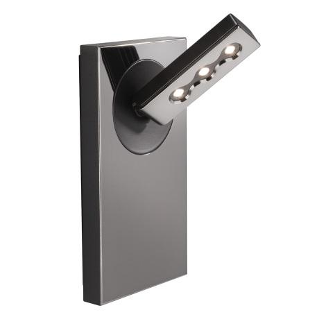 Lirio 57160/13/LI - nástenné svietidlo PONATO 1xLED/7,5W čierny chróm