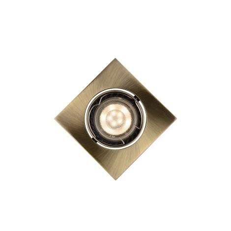 Lucide 11002/05/03 - LED podhľadové svietidlo FOCUS 1xGU10/5W/230V bronz hranaté