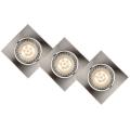 Lucide 11002/15/12 - SADA 3x LED podhľadové svietidlo FOCUS 3xGU10/5W/230V chróm