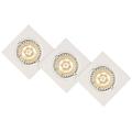 Lucide 11002/15/31 - SADA 3x LED podhľadové svietidlo FOCUS 3xGU10/5W/230V biele