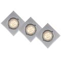 Lucide 11002/15/36 - SADA 3x LED podhľadové svietidlo FOCUS 3xGU10/5W/230V šedé