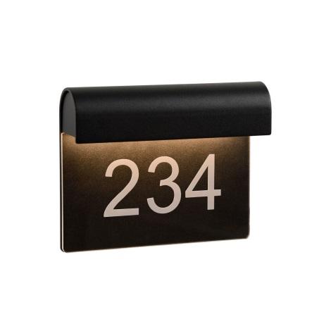 Lucide 27881/06/30 - LED domové číslo THESI LED/6W/230V IP54