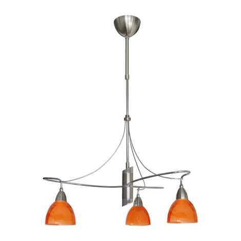 Luster CARRAT matný chróm/chróm/oranž