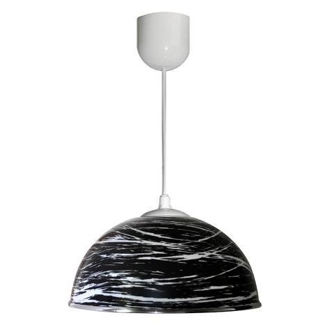 Luster na lanku AKRYL KS 1xE27/60W čierna abstrakt