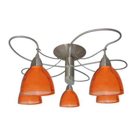 Luster prisadený CARRAT matný chróm/chróm/oranž