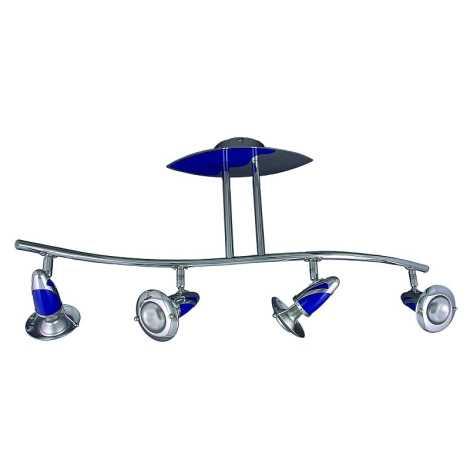Luster ZEUS 4xE14/40W modrý