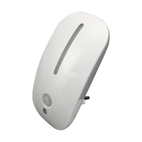 Luxera 1618 - LED svietidlo do zásuvky MINI LIGHT 1 + 8LED/0,3W/230V senzor