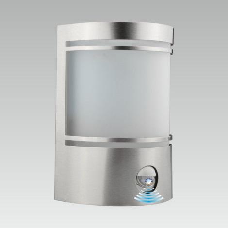 LUXERA 61031 - Senzorové vonkajšie nástenné svietidlo AZZURO 1xE27/60W