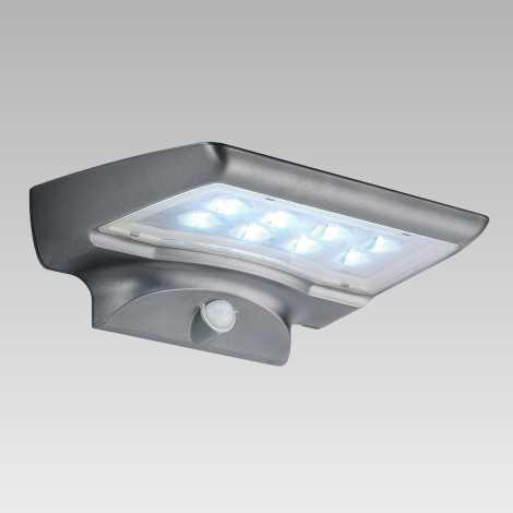 Luxera 65251 - Vonkajšie svietidlo s čidlom STARGATE 8xLED/0,5W/5,4V
