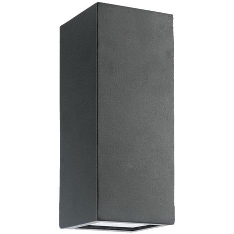 Luxera 65252 - Vonkajšie nástenné svietidlo BLOCK 2xLED/1,5W/230V