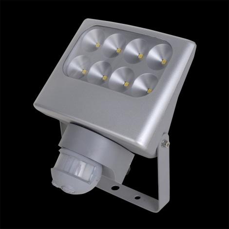 LUXERA 70130 - LED Senzorový reflektor NEGARA 8xLED/3W