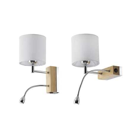 MANGO MA KD - LED nástenné svietidlo 1xE27/60W + LED/1W/230V