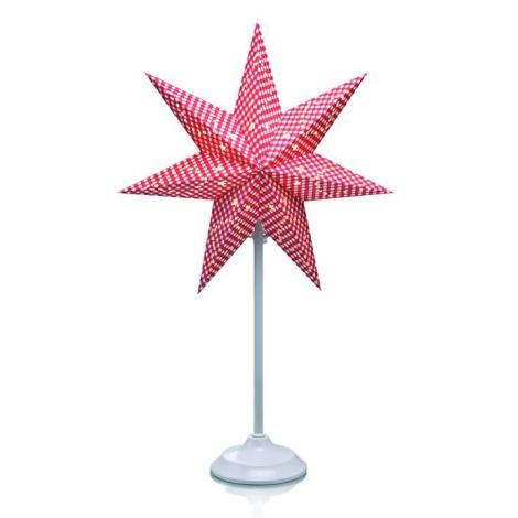 Markslöjd 702856 - Vianočná dekorácia GULLI 1xE14/25W/230V hviezda 64 cm červená