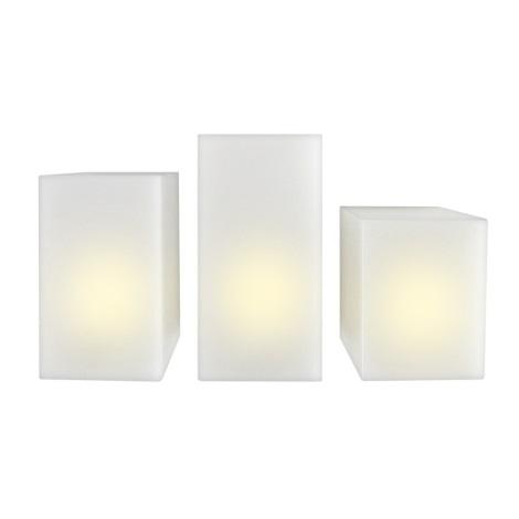 Markslöjd 703529 - SADA 3x LED dekoratívna sviečka LANGÖ 3xLED/0,03W/3xAAA