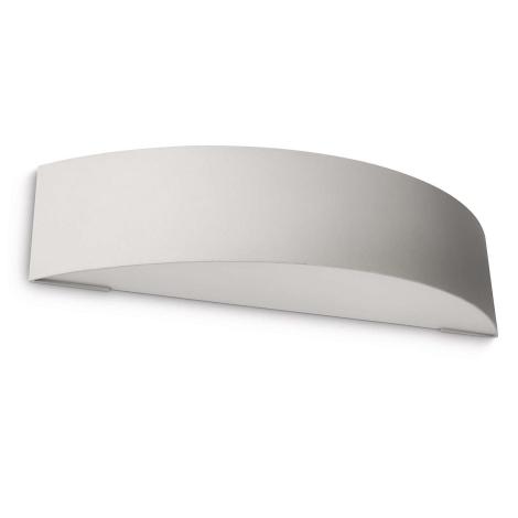 Massive 17130/87/10 - Vonkajšie nástenné svietidlo BASEL 1xE27/27W/230V sivá