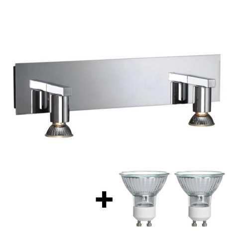 Massive 34026/11/10 - Kúpeľňové osvetlenie zrkadla HORIZON 2xGU10/50W/230V