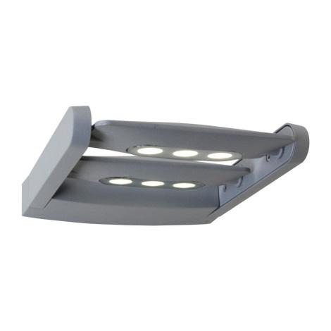 Nástěné LED svietidlo AWAX 6xLED/3W stříbrná