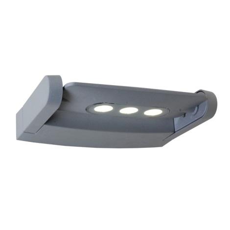 Nástenné LED svietidlo AWAX 3xLED/3W stříbrná