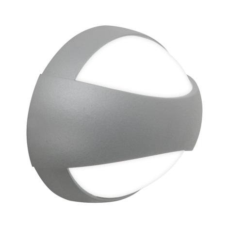 Nástenné LED svietidlo EYES 3xLED/1W stříbrná