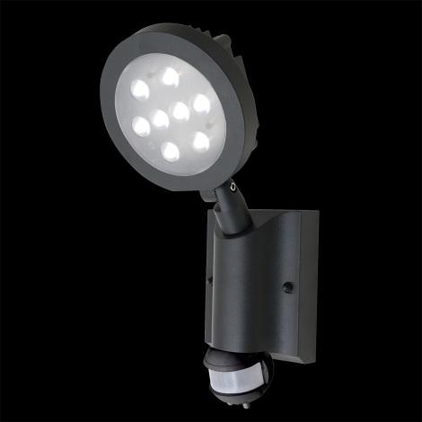Nástenné LED svietidlo NEVADA 8xLED/1W šedá