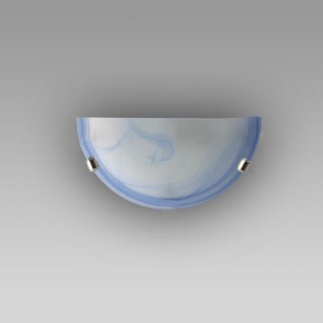 Nástenné svietidlo ALABASTR modrá