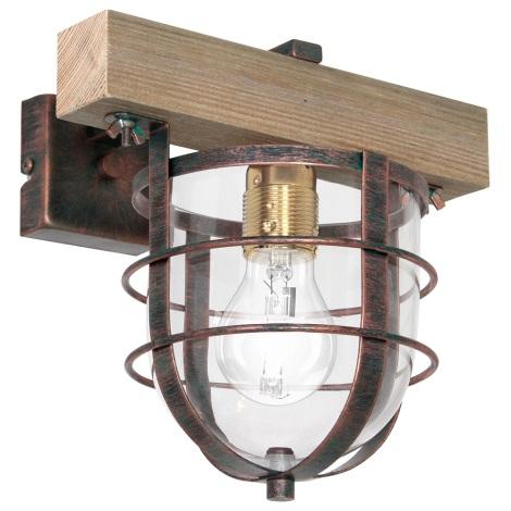 Nástenné svietidlo ANDER 1xE27/60W/230V svetlohnedá