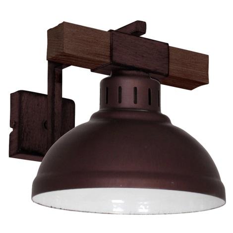 Nástenné svietidlo HAKON 1xE27/60W/230V tmavá