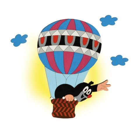 Nástenné svietidlo krt v balónu