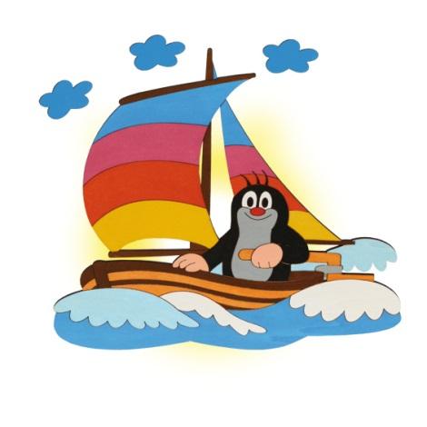 Nástenné svietidlo krt v loďke