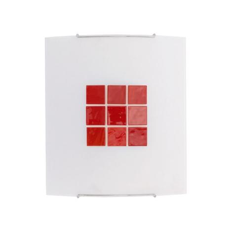 Nástenné svietidlo KUBIK 5 RED 1xE27/100W