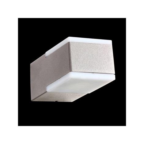 Nástenné svietidlo TECRA 2xLED/3W stříbrnošedá